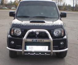 Защита переднего бампера для Suzuki Jimny (04+) SZJM.04.F2-14 d60мм x 1.6