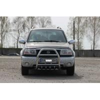 Защита переднего бампера для Suzuki Grand Vitara II (2005-2012) SZGV.05.F2-02 d60мм x 1.6