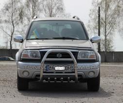 Защита переднего бампера для Suzuki Grand Vitara I (1997-2005) SZGV.97.F2-02 d60мм x 1.6