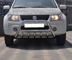 Защита переднего бампера для Suzuki Grand Vitara II (2005-2012) SZGV.05.F1-03 d60мм x 1.6
