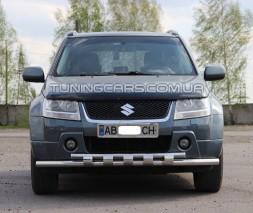 Защита переднего бампера для Suzuki Grand Vitara II (2005-2012) SZGV.05.F3-12 d60мм x 1.6