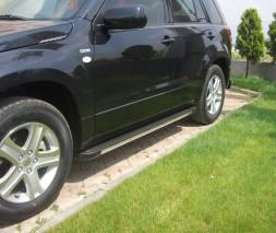 Пороги Suzuki Grand Vitara [2005+] EB002 (Elegance Black)