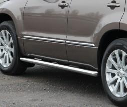 Пороги трубы 3-Д для Suzuki Grand Vitara II (2012-2015) SZGV.12.S1-01-3D d60мм x 1.6