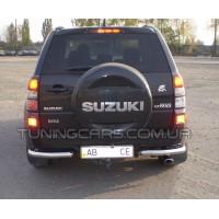 Защита заднего бампера (углы) для Suzuki Grand Vitara II (2012-2015) SZGV.12.B1-09 d60мм x 1.6