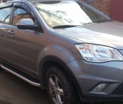 Пороги SsangYong Korando [2010+] NS001 (Newstar grey)