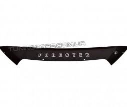 Дефлектор капота (мухобойка) для Subaru Forester с 2012 г.в. (короткий)
