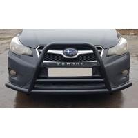 Защита переднего бампера для Subaru XV (2011-2017) SBXV.11.F1-71 (черный) d60мм x 1.6