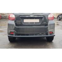 Защита заднего бампера для Subaru XV (2011-2017) SBXV.11.B1-02 d60мм x 1.6 (Чёрный) d60мм x 1.6