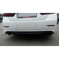 Накладка на задний бампер Toyota Camry 50
