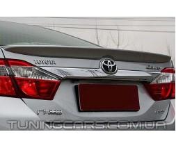 (ABS пластик) Лип спойлер Toyota Camry v50, Тойота Камри 50