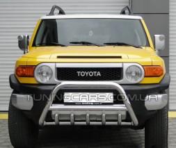 Защита переднего бампера для Toyota FJ Cruiser (2006-2014) TYFJ.06.F1-03 d60мм x 1.6