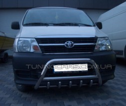 Передняя защита кенгурятник Toyota Hiace (07+) TYHС.07.F1-03