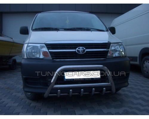 Защита переднего бампера для Toyota Hiace (2007+) TYHС.07.F1-03 d60мм x 1.6