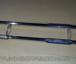 Пороги трубы з накладками Toyota Hiace (04+) TYHС.07.S1-02