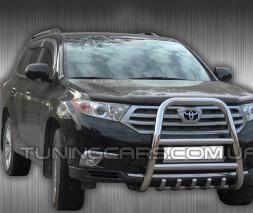 Защита переднего бампера для Toyota Highlander XU40 (2010-2013) TYXU.10.F1-36 d60мм x 1.6