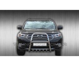 Защита переднего бампера для Toyota Highlander XU40 (2010-2013) TYXU.10.F1-40 d60мм x 1.6