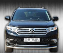 Защита переднего бампера для Toyota Highlander XU40 (2010-2013) TYXU.10.F3-05 d60мм x 1.6