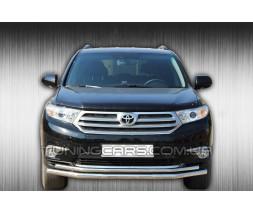 Защита переднего бампера для Toyota Highlander XU40 (2010-2013) TYXU.10.F3-10 d60мм x 1.6