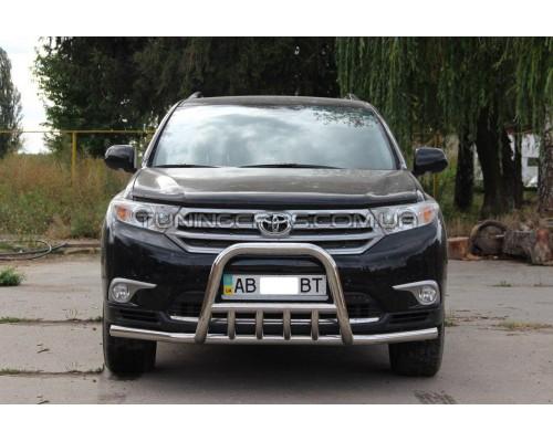 Защита переднего бампера для Toyota Highlander (2010-2013) TYXU.10.F3-18 d60мм x 1.6