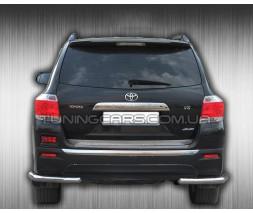 Защита заднего бампера (углы) для Toyota Highlander XU40 (2010-2013) TYXU.10.B1-09 d60мм x 1.6