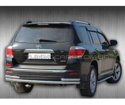 Защита заднего бампера для Toyota Highlander XU40 (2010-2013) TYXU.10.B1-32 d60мм x 1.6