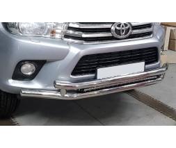 Защита переднего бампера для Toyota Hilux (2015+) TYHL.15.F3-20 d60мм x 1.6