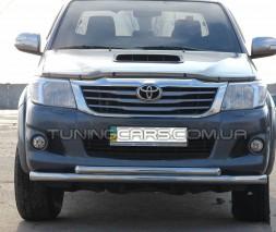 Защита переднего бампера для Toyota Hilux (2004-2015) TYHL.04.F3-10 d60мм x 1.6