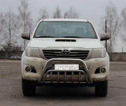 Защита переднего бампера для Toyota Hilux (2015+) TYHL.15.F1-02 d60мм x 1.6