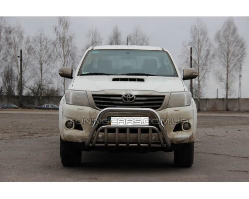 Защита переднего бампера для Toyota Hilux (2004-2015) TYHL.04.F1-02 d60мм x 1.6