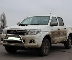 Защита переднего бампера для Toyota Hilux (2004-2015) TYHL.04.F1-16 d60мм x 1.6