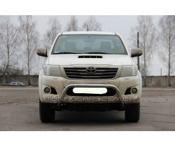 Защита переднего бампера для Toyota Hilux (2004-2015) TYHL.04.F1-23 d60мм x 1.6