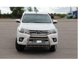 Защита переднего бампера для Toyota Hilux (2015+) TYHL.15.F1-34 d60мм x 1.6