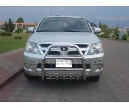 Защита переднего бампера для Toyota Hilux (2004-2015) TYHL.04.F2-02 d60мм x 1.6