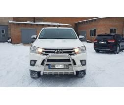 Защита переднего бампера для Toyota Hilux (2015+) TYHL.15.F2-04 d60мм x 1.6