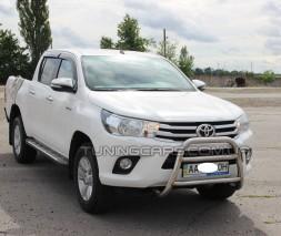 Защита переднего бампера для Toyota Hilux (2015+) TYHL.15.F2-07 d60мм x 1.6