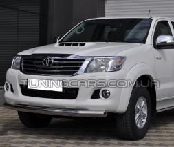 Защита переднего бампера для Toyota Hilux (2004-2015) TYHL.04.F3-05 d60мм x 1.6