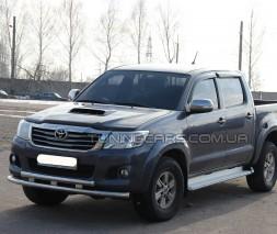 Модельная защита переднего бампера Toyota Hilux (2004-2015) TYHL.04.F3-10M d60мм x 1.6