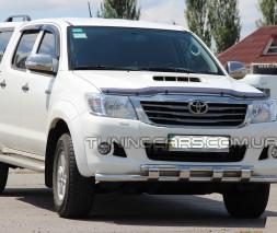 Защита переднего бампера для Toyota Hilux (2015+) TYHL.15.F3-12 d60мм x 1.6