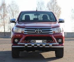 Защита переднего бампера для Toyota Hilux (2015+) TYHL.15.F3-12L d60мм x 1.6