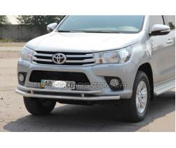 Защита переднего бампера для Toyota Hilux (2004-2015) TYHL.04.F3-20 d60мм x 1.6