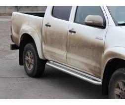 Пороги площадка для Toyota Hilux (2004-2015) TYHL.04.S2-01 d60мм x 1.6