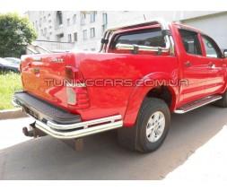 Защита заднего бампера (углы) для Toyota Hilux (2004-2015) TYHL.04.B1-12 d60мм x 1.6