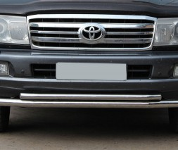 Защита переднего бампера для Toyota Land Cruiser 100 (1998-2007) TYLC.98.F3-10 d60мм x 1.6