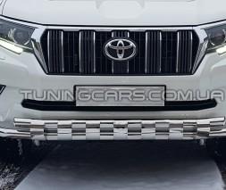 Защита переднего бампера для Toyota Land Cruiser Prado 150 (2017+) TYLC.17.F3-15 d60мм x 1.6