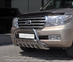 Защита переднего бампера для Toyota Land Cruiser 100 (1998-2007) TYLC.98.F1-02 d60мм x 1.6