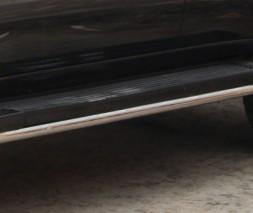 Обводка штатных порогов для Toyota Land Cruiser 100 (1998-2007) TYLC.98.S1-04 d42мм x 1.6