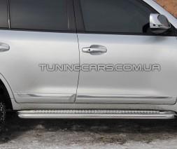 Пороги площадка для Toyota Land Cruiser 200 (2007+) TYLC.07.S2-01 d60мм x 1.6