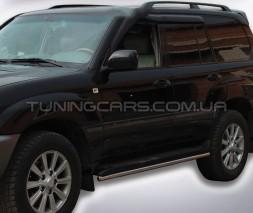 Обводка штатных порогов для Toyota Land Cruiser 200 (2007+) TYLC.07.S1-04 d42мм x 1.6