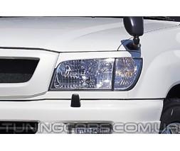Накладки на фары (реснички) Toyota Land Cruiser 100, Тойота Ленд Крузер 100
