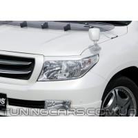 Накладки на фары (реснички) Toyota Land Cruiser 200, Тойота Ленд Крузер 200